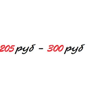 205р - 300р